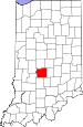 Map of Indiana highlighting Morgan County.svg