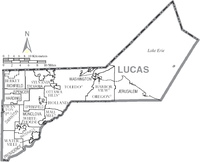 Map of Lucas County Ohio With Municipal and Township Labels.PNG