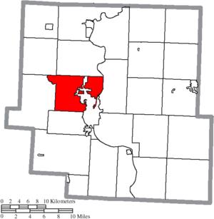 Falls Township, Muskingum County, Ohio - Image: Map of Muskingum County Ohio Highlighting Falls Township