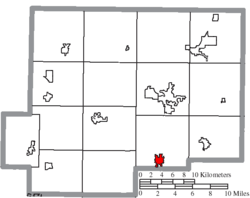 Location of Columbus Grove in Putnam County