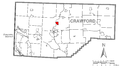 Map of Saegertown, Crawford County Pennsylvania Highlighted.png