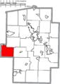 Map of Tuscarawas County Ohio Highlighting Bucks Township.png