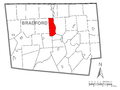 Map of Ulster Township, Bradford County, Pennsylvania Highlighted.png