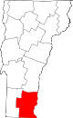 Map of Vermont highlighting Windham County.svg