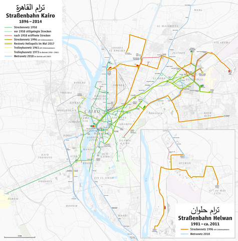 Datei:Map of the Cairo and Helwan tramways with topography ...