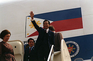Juan Ponce Enrile - Minister of National Defense Juan Ponce Enrile with President Ferdinand Marcos.