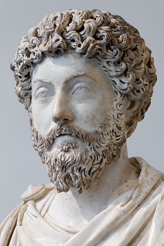 Roman philosophy - Bust of emperor Marcus Aurelius, who wrote his famous  Meditations in 180 AD