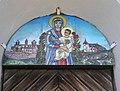Maria mit Kind, Email-Bild von Br. Bernward Schmid OSB, Wallfahrtskirche Maria Schnee auf der Hochalm.JPG