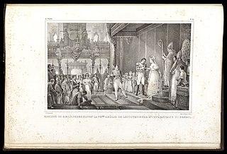 Mariage de S. M. I. D. Pedro 1er. avec la Presse. Amélie de Leuchtenberg, 2e. Impératrice du Brésil
