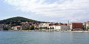 Marjane, Marjane - Split City Harbor (Gradska luka) and the scenic Marjan hill, where the city flag is hoisted.
