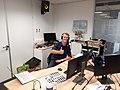 Mark in de studio van Landstede MBO.jpg