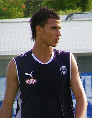 Marouane Chamakh - Chamakh during a 2009 training session with Bordeaux.