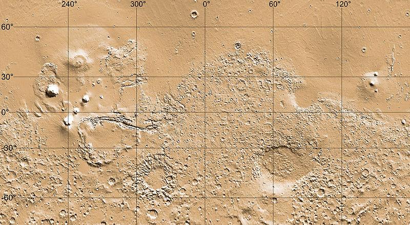 Fichier:MarsTopoMap-PIA02031 modest cropped monochrome.jpg