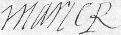 Mary Stuart's signature