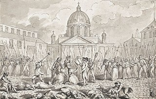 Wave of killings in France in 2–7 Sept. 1792 during the French Revolution, in which half the prison population of Paris (that is, approx. 1200–1400 people) were summarily executed