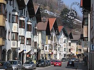 Brenner pass road in Matrei