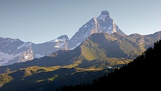 Second ascent of the Matterhorn - The Matterhorn seen from the Valtournenche