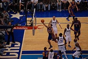 2011–12 New York Knicks season - The Knicks playing against the Dallas Mavericks during the season