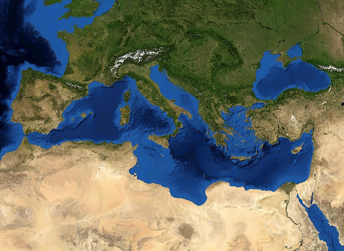 kart middelhavsområdet Middelhavet – Wikipedia kart middelhavsområdet