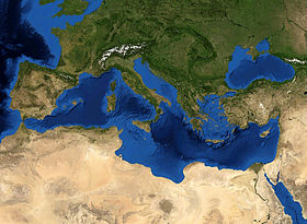 Geographic Features Of Southern European Countries Surrounding The Mediterranean Sea