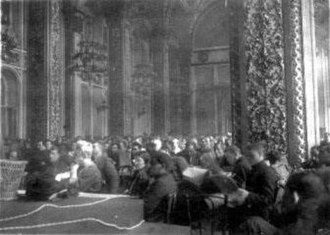 12th Congress of the Russian Communist Party (Bolsheviks) - Meeting hall during the last day of the Congress