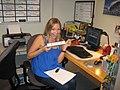 Megan Masters at Kellys desk (3817605993).jpg