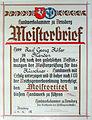 Meisterbrief Kürschnerhandwerk Karl Georg Köster, Arnsberg 1.jpg