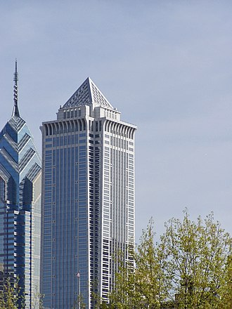Architecture of Philadelphia - One Liberty Place (left) and Mellon Bank Center (right).