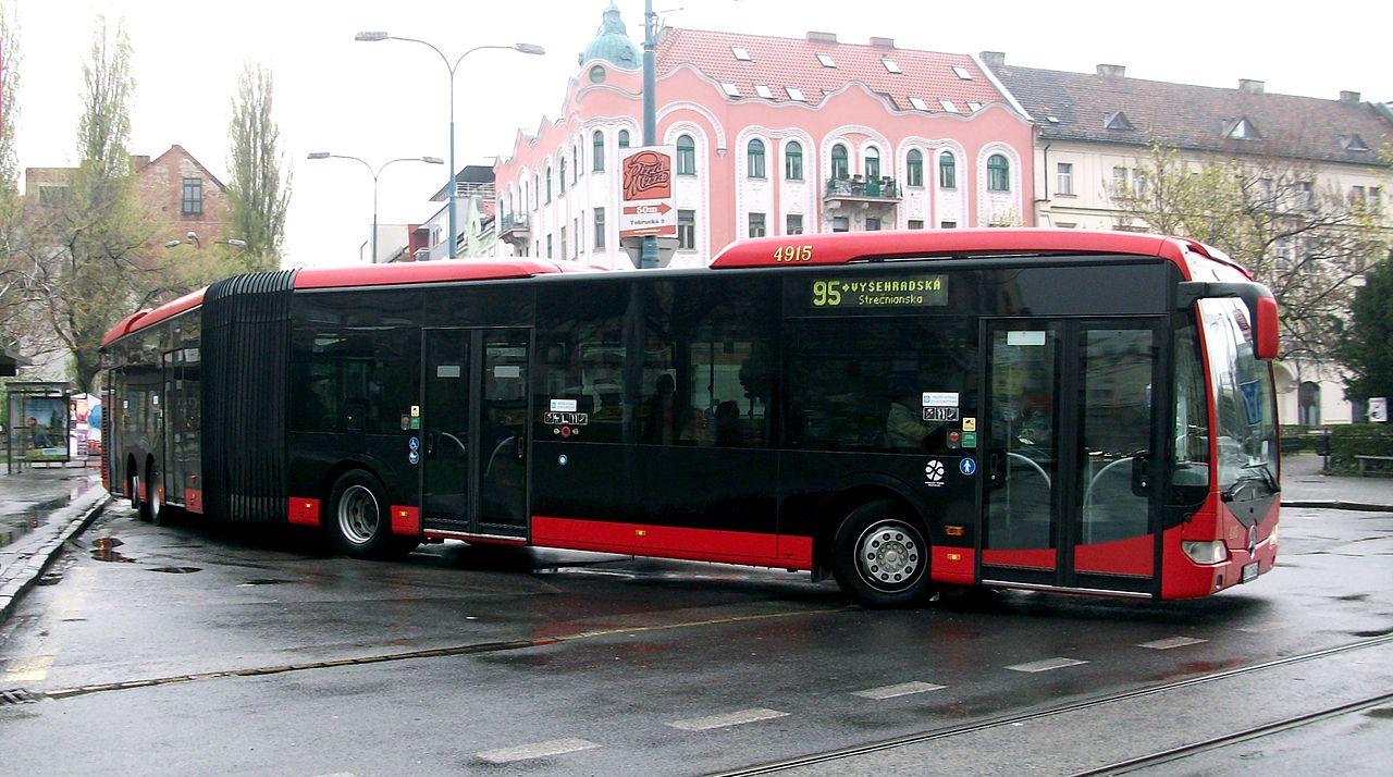 File mercedes benz capacity leaving a bus stop bratislava for Mercedes benz long beach service department
