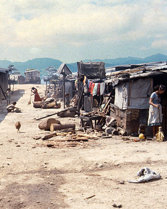 Salvadoran Civil War - Mesa Grande refugee camp in Honduras 1987