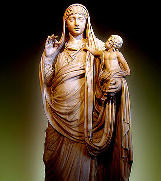 Agrippina the Younger - Messalina holding her son Britannicus (Louvre)