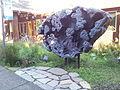 Meteorite replica, University of Oregon, 2015.jpg