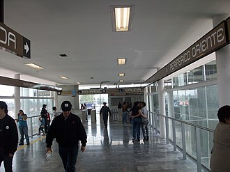 Metro Periférico Oriente - Exit from the station