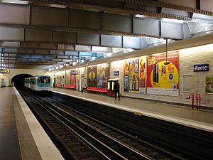 Rome (Paris Métro) - Image: Metro de Paris Ligne 2 Rome 04