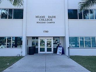 Miami Dade College - Image: Miami Dade College Campus entrance
