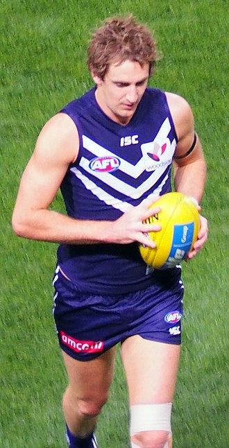 Michael Barlow - Barlow playing for Fremantle in May 2014