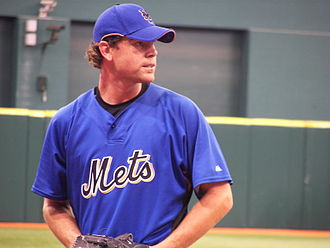 Mike Pelfrey - Pelfrey before a spring training game at Tropicana Field in St. Petersburg, Florida