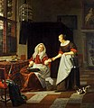 Michiel van Musscher - Interior with a Woman and her Maid.jpg