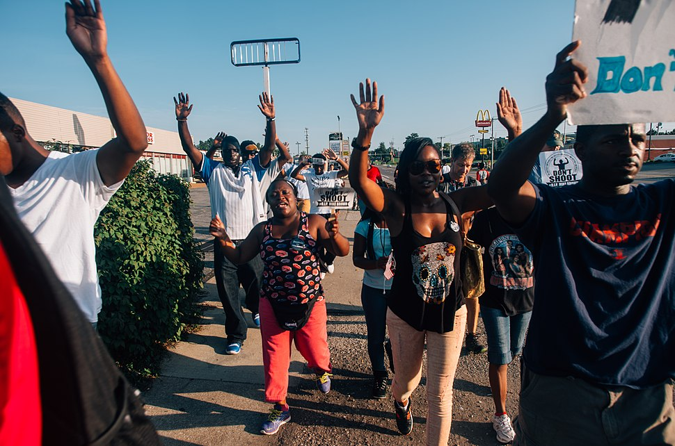 Middle of the crowd in Ferguson.jpg
