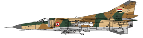 Mikoyan-Gurevich MIG-23MS Syrian Air Force Camo
