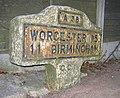 Milepost -Worcester 15 Birmingham 11 - geograph.org.uk - 1106054.jpg