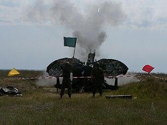 Oerlikon GDF - Romanian soldiers firing TP rounds.
