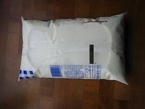 Milk bag - Plastic milk bag from Israel opposite side