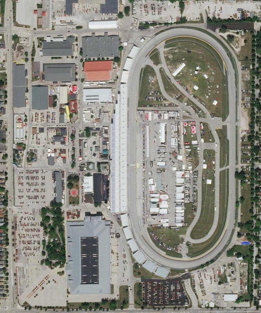 Milwaukee Mile landsat