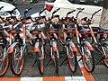 Mobikes in Huangzhou, Huanggang, Hubei, China 2.jpg