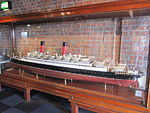 Model of Carmania (ship, 1905), Merseyside Maritime Museum.JPG