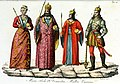 Monarchs of Hungary, Bela IV, Mary of Hungary, Wenceslaus, Matthias Corvinus Illustration for Il costume antico e moderno by Giulio Ferrario 1831 (2).jpg
