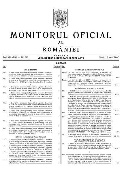 File:Monitorul Oficial al României. Partea I 2007-06-12, nr. 395.pdf