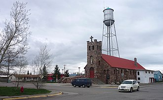 Browning, Montana - A church in Browning
