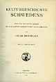 Montelius, Kulturgeschichte Schwedens (1906) title page.jpg